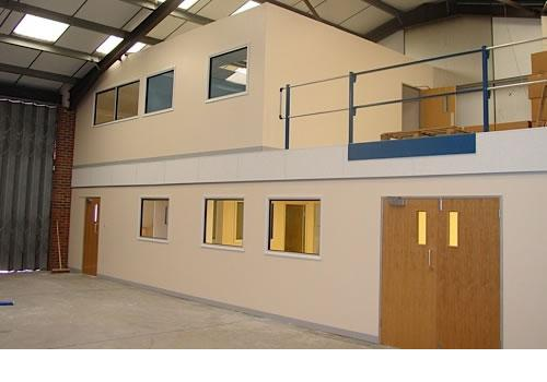 Mezzanine with offices