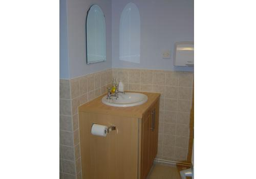 Vanity unit in toilet area
